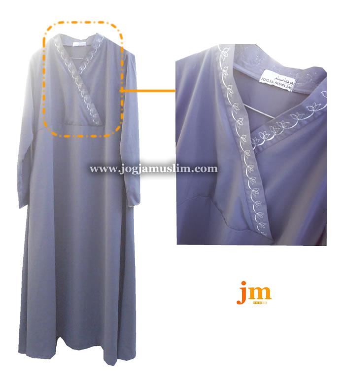 Jual Jubah Akhwat Dewasa Model Kimono Kain Wolvis
