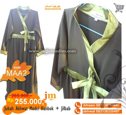 Jual Jubah Akhwat Dewasa Model Hanbok Warna Hijau