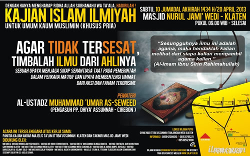 Download Dauroh Agar Tidak Tersesat Timbalah Ilmu dari Ahlinya Bersama Al Ustadz Muhammad Umar As Sewed
