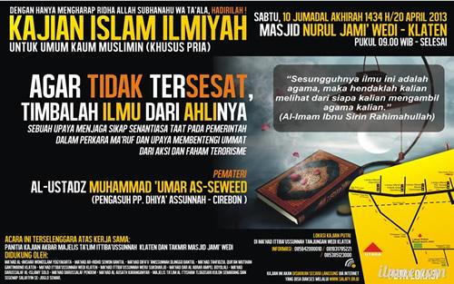 Download Dauroh Agar Tidak Tersesat Timbalah Ilmu dari Ahlinya Bersama Al Ustadz Muhammad Umar As Sewed