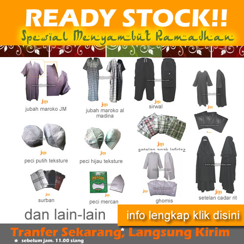 ready stock jogjamuslim
