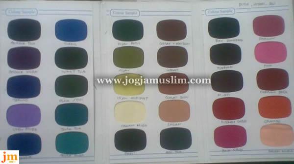 Katalog Warna Kain Jogjamuslim