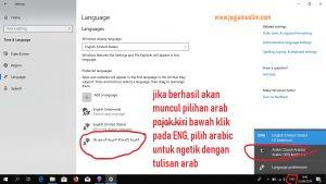 Berhasil Instal teks arab window 10