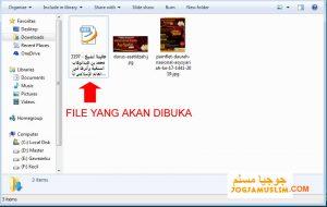 File yang akan dibuka Kitab PDF tulisan arab