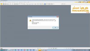 Muncul Pesan File tidak bisa dibuka