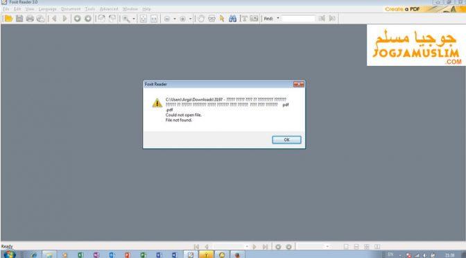Kenapa Kitab PDF Tidak Bisa Terbuka
