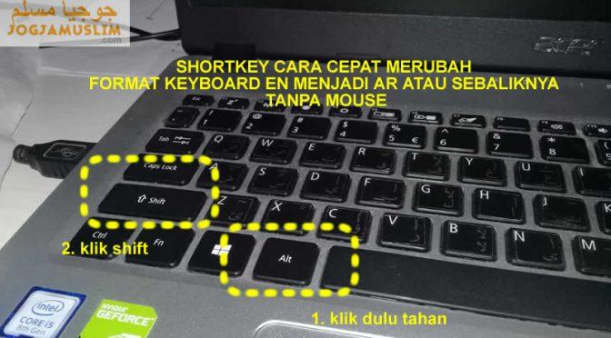 Shortkey Cara Cepat Ganti Format Bahasa Pada Keyboard