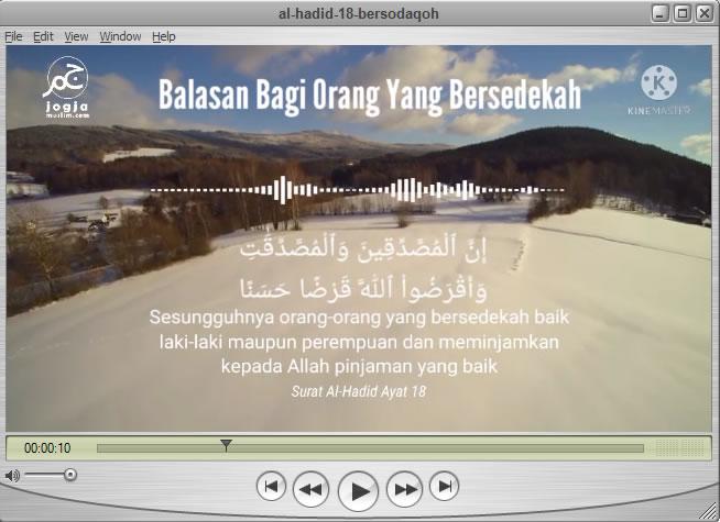Balasan Orang Yang Bersedekah, Al Hadid 18, tabadur Al Quran