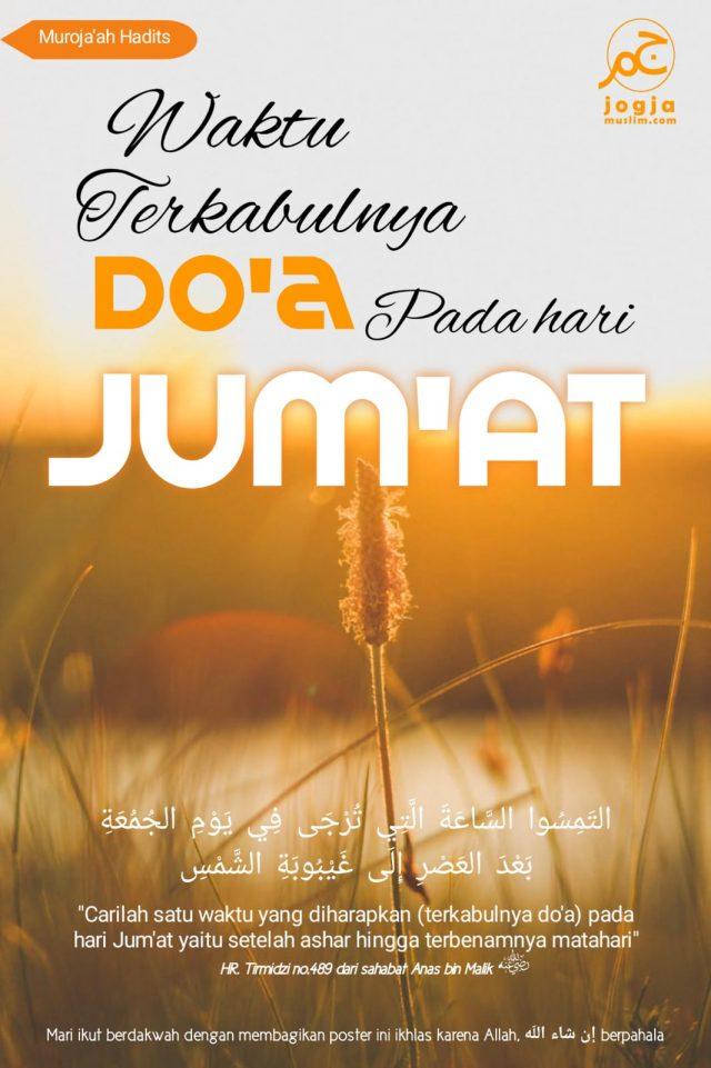 Waktu Mustajab Berdoa di Hari Jumat