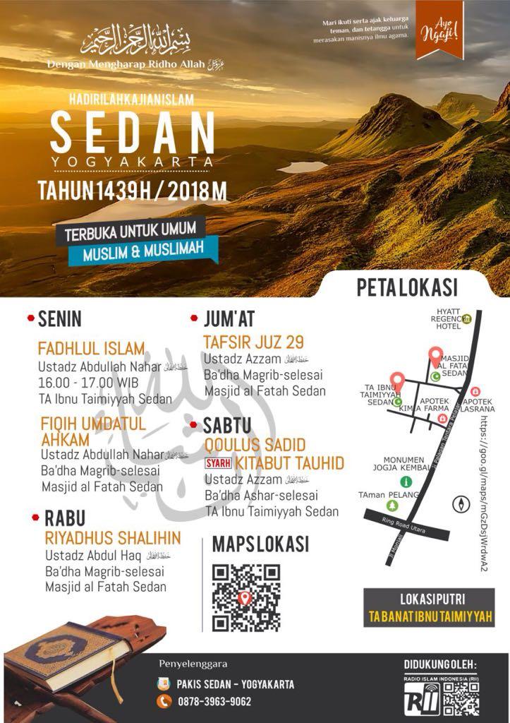 Kajian Islam Daerah Sedan Yogjakarta